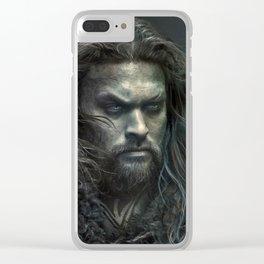 New Aquaman - Jason Momoa portrait Clear iPhone Case