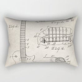 Gibson Guitar Patent - Les Paul Guitar Art - Antique Rectangular Pillow