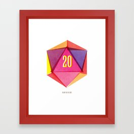 Rolling D20's Like A Big Shot  Framed Art Print