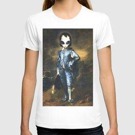 Blue Alien Painting T-shirt