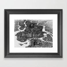 Rhapsody on a New York Theme (No Tilt-shift) Framed Art Print