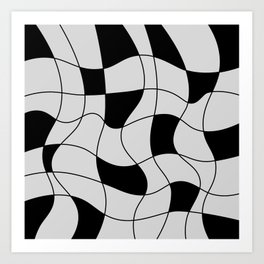 Lines Black Art Print