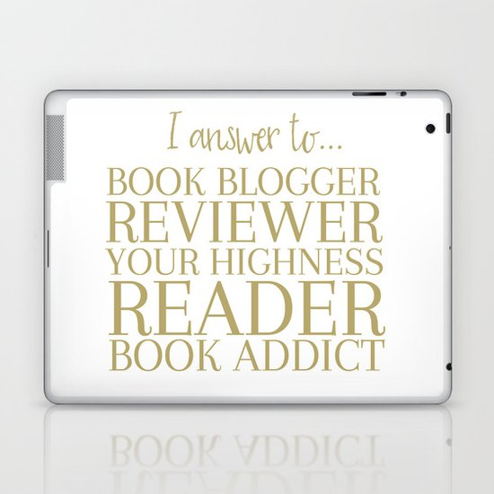I Answer To Book Blogger Laptop & iPad Skin