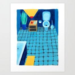 Baño a medianoche Art Print