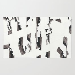 Forest abstract minimal painting Rug