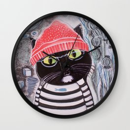 Mittens Ponders the Fibonacci Sequence Wall Clock