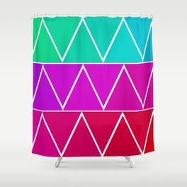 Triangle Pattern! Shower Curtain