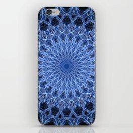 Cold blue mandala iPhone Skin
