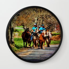 Horses Going Home Wall Clock