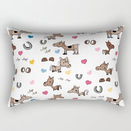 Clip Clop Rectangular Pillow