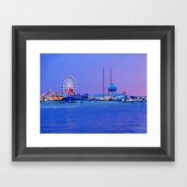 Ocean City Night Framed Art Print