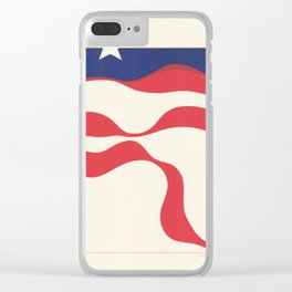 American Flag Stylistic Clear iPhone Case