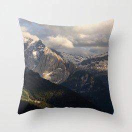 Alpine view Throw Pillow