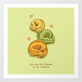 Tortellini Valentine Art Print