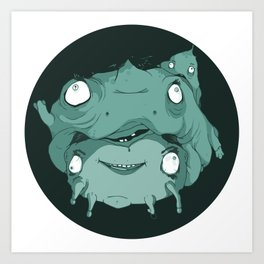 Nogland Logo Green Art Print