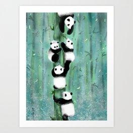 Panda Playtime Art Print