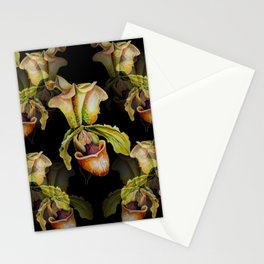 Paphiopedilum Orchids, Lady's Slipper Watercolor Stationery Cards