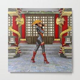 Asian Battle Woman Metal Print
