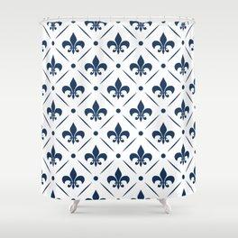 Fleur De Lis pattern Shower Curtain