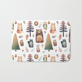 forest friends Bath Mat