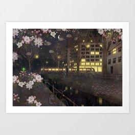 evening walks Art Print