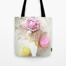 French Macarons Cone Print Tote Bag