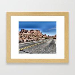 On the road again, Utah. Framed Art Print