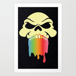 Rainbow Skull Art Print