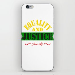 Equality and Justice tee design made specially for for justice lovers like you!  iPhone Skin