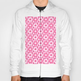 Floral Checker Pink Hoody