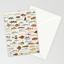 Illustrated Colorful Southern Pacific Exotic Game Fish Identification Chart Stationery Cards