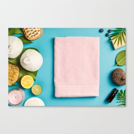 spa settings Canvas Print