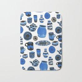 Cobalt Pottery Bath Mat