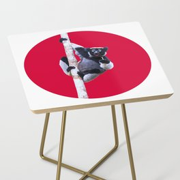 Indri indri sitting in the tree Side Table