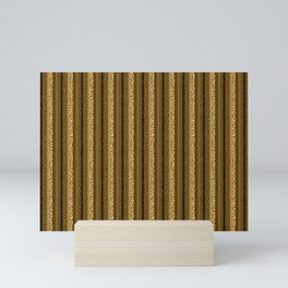 Bubbly Brown Striped Pattern Mini Art Print