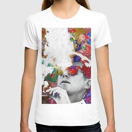 John F Kennedy Cigar And Sunglasses Colorful T-shirt