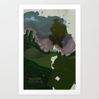 shadow of the colossus Art Prints featuring Shadow Of The Colossus by Duke Dastardly