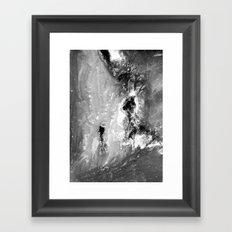 Dream view serie - Waterfall meeting Framed Art Print