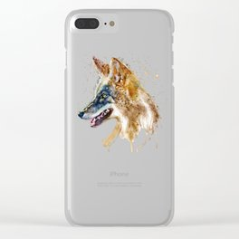 Coyote Head Clear iPhone Case