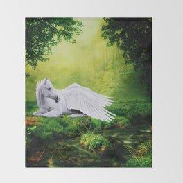 Pegasus By The Stream Throw Blanket