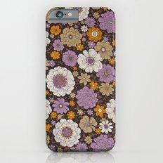 Retro floral sheet purples iPhone 6s Slim Case