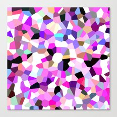 Modern Abstract Geometric Pattern Pink Teal Pastel  Canvas Print