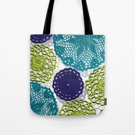crochet doilies Tote Bag