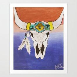 Twin Buffalos Art Print
