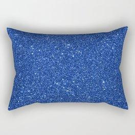 Cobalt Blue Glitter Rectangular Pillow