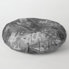 Pyramid by Lu, Black and White Floor Pillow