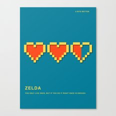 8 BITS BETTER - ZELDA Canvas Print