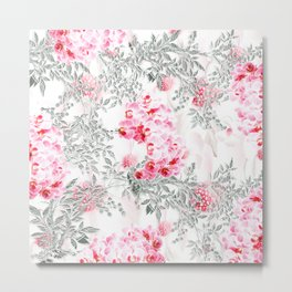PINK ORCHIDS IN SPRING BLOOM Metal Print