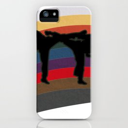 Funny Retro Vintage Karate Belt Gift iPhone Case