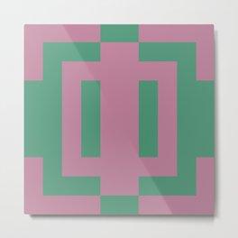 Green + Pink Metal Print